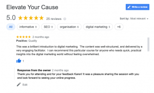 Why Your Not For Profit Needs Google My Business - google reviews